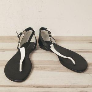 7b5bad092efc MICHAEL Michael Kors Black White Thong Sandal 8
